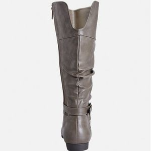 Shoes - Cole Ruched Taupe Grey Extended Calf Boots - 8W